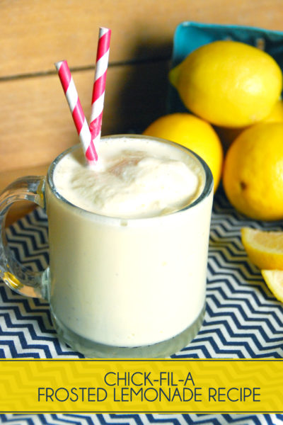 Copycat Chickfila Frosted Lemonade Recipe