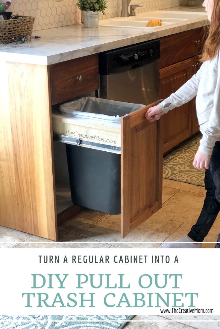 Diy Pull Out Trash Cabinet The