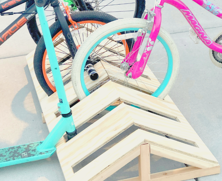 DIY Modern Bike Rack