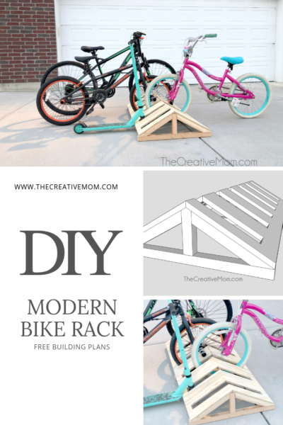 diy modern bike rack building plans