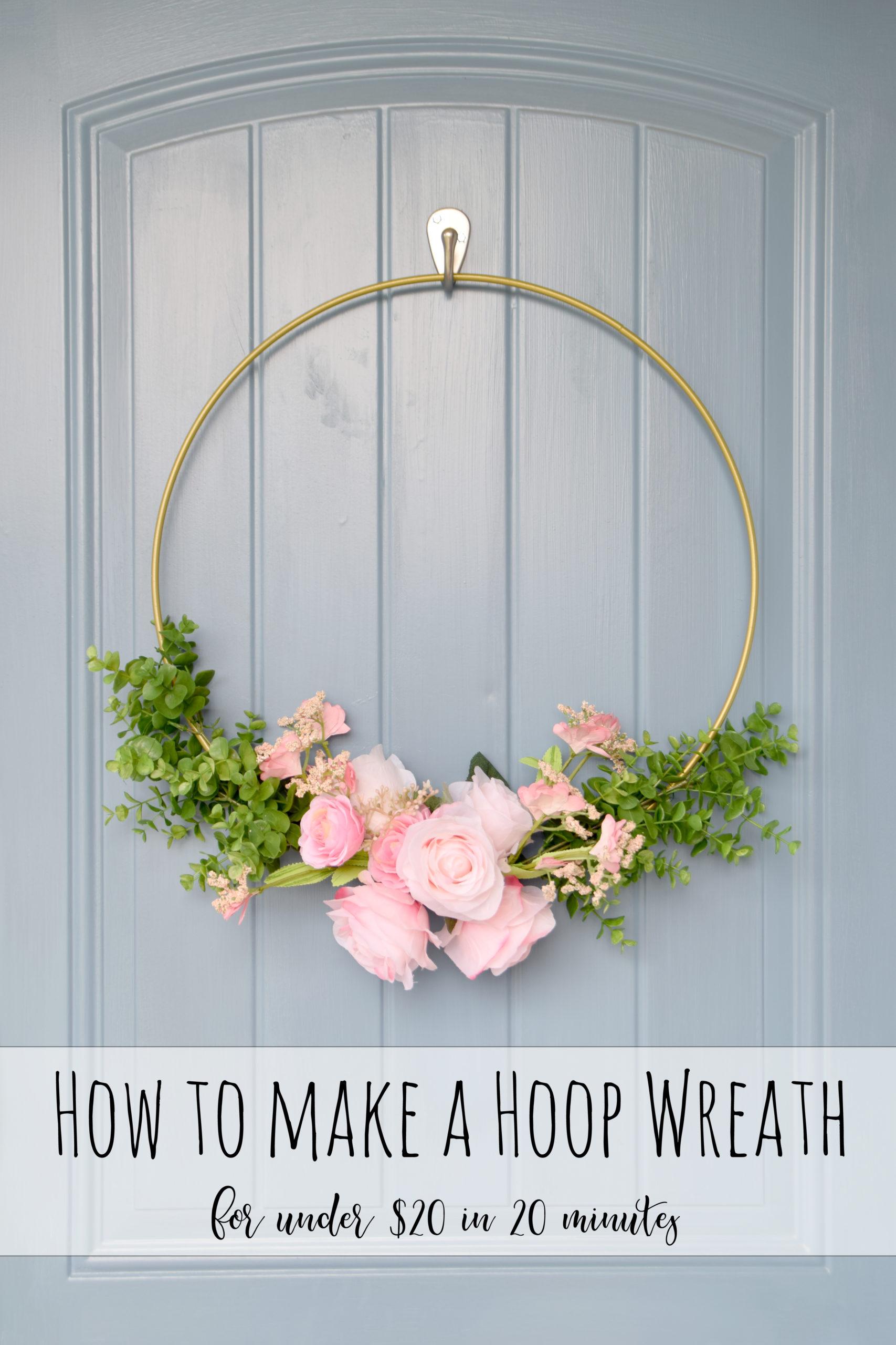 How to Make a Hoop Wreath