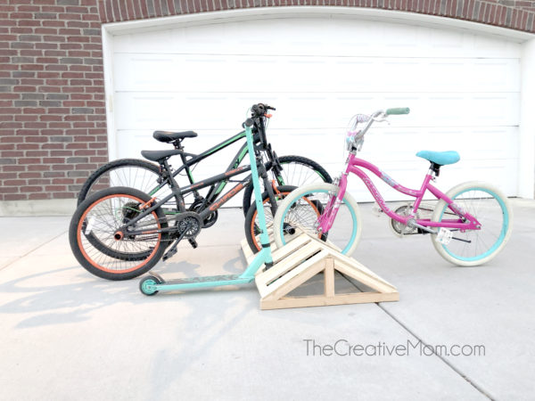 modern diy bike rack