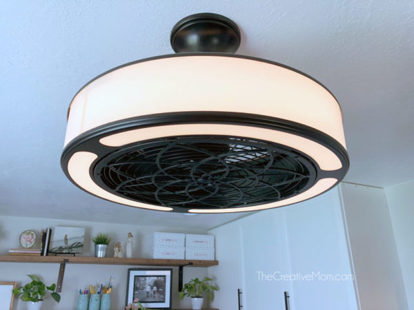 basement office ceiling fan light