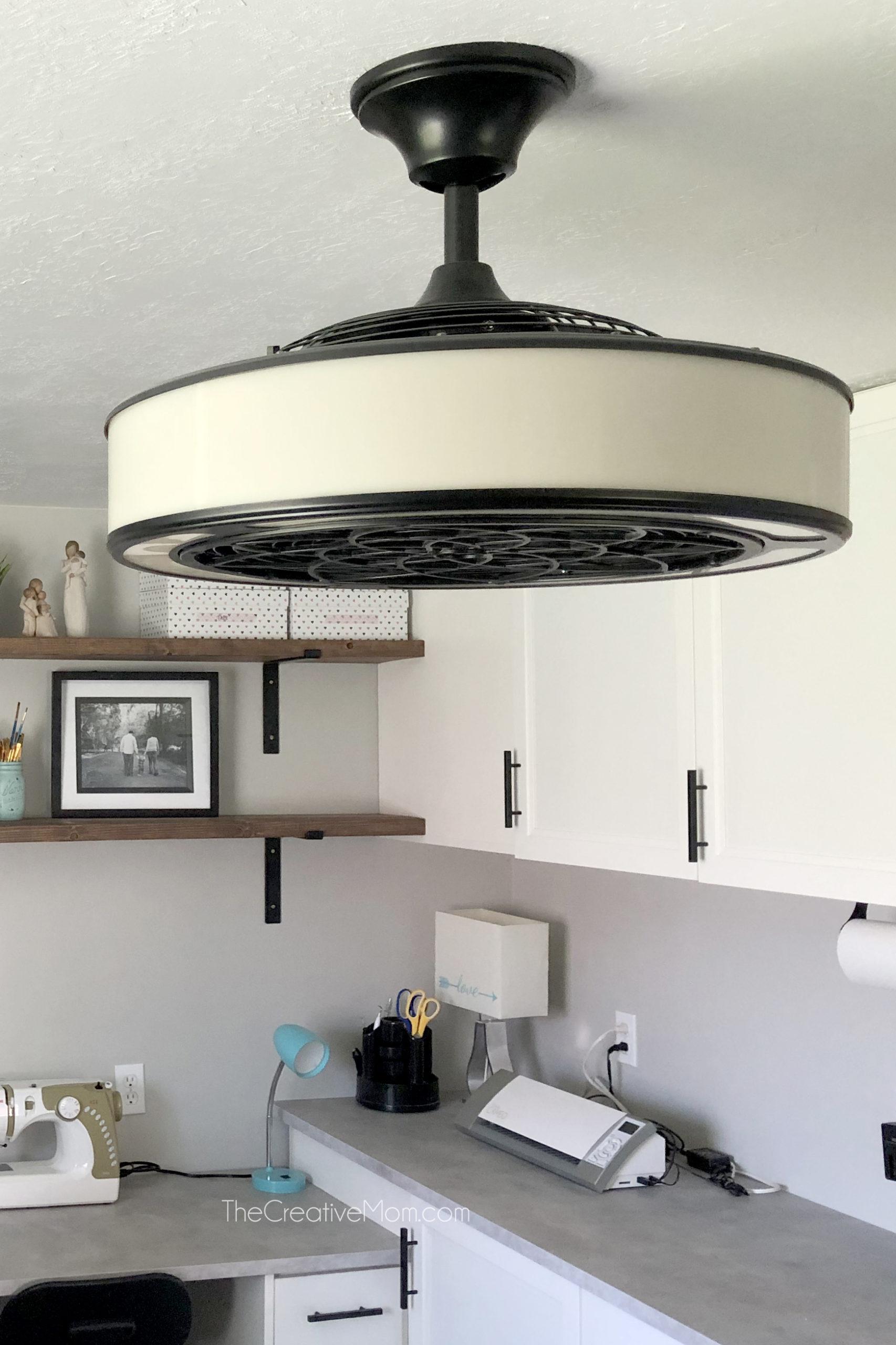 basement office ceiling fan
