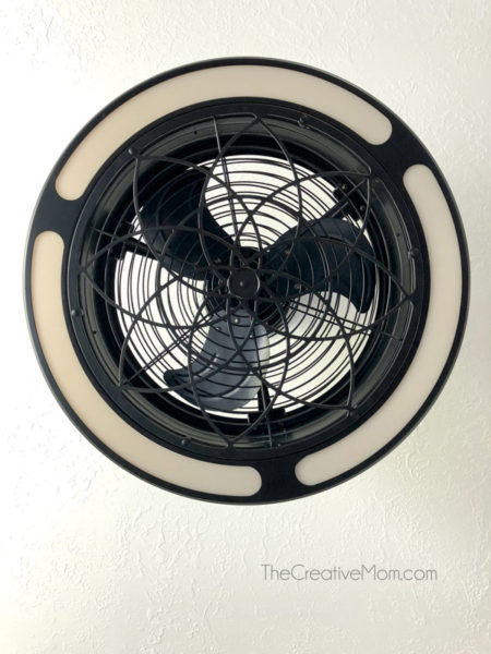 enclosed ceiling fan