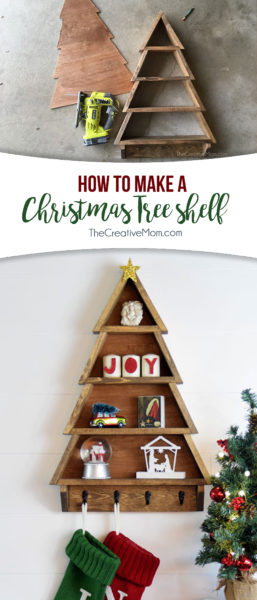 christmas tree shelf diy