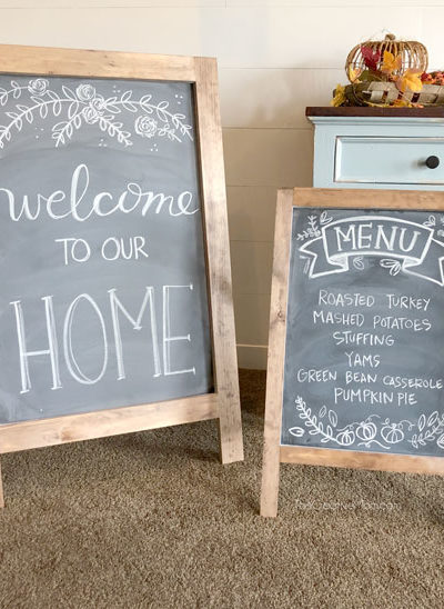 How to Build an Easel Chalkboard- free building plans