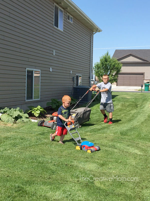 kids yard work