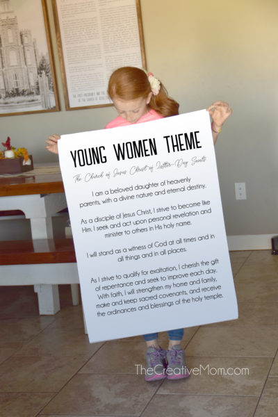 New Young Women Theme- Free Printable