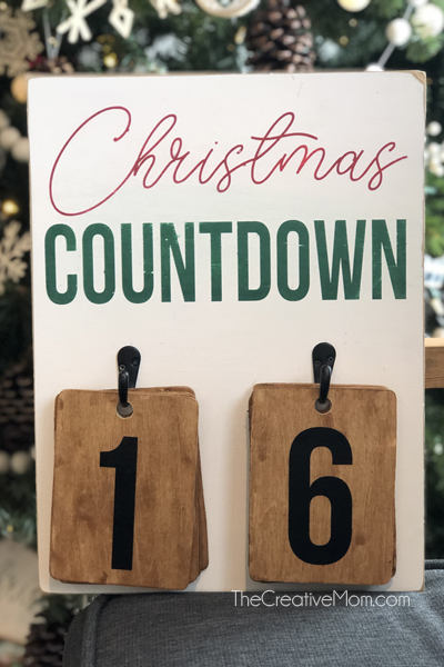 DIY Christmas Countdown- free cut files!