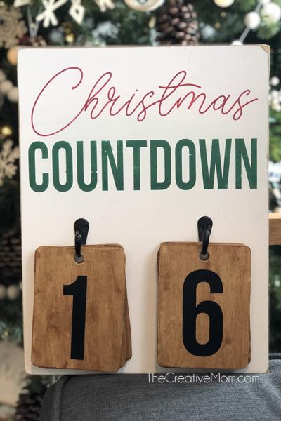 Christmas Countdown tags