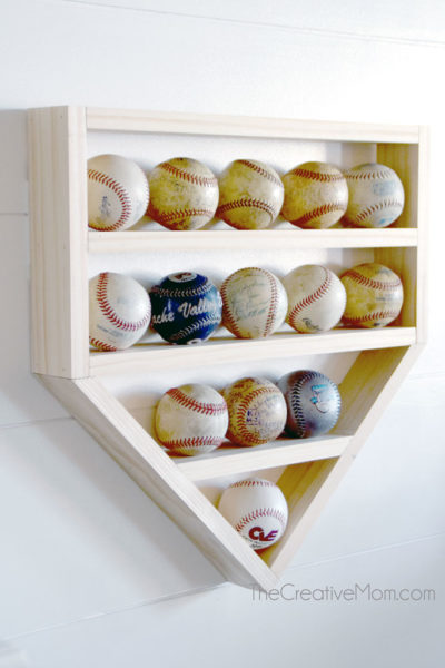 DIY Baseball Display Shelf-  step by step building plans