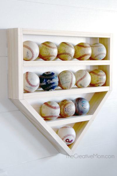 DIY Baseball Display Shelf- free building plans