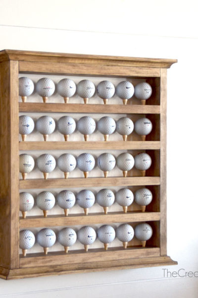 diy golf ball shelf