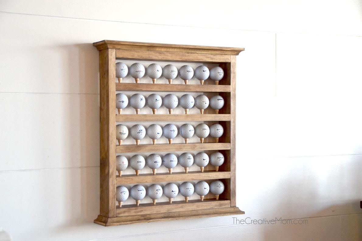 DIY Golf Ball Display Case