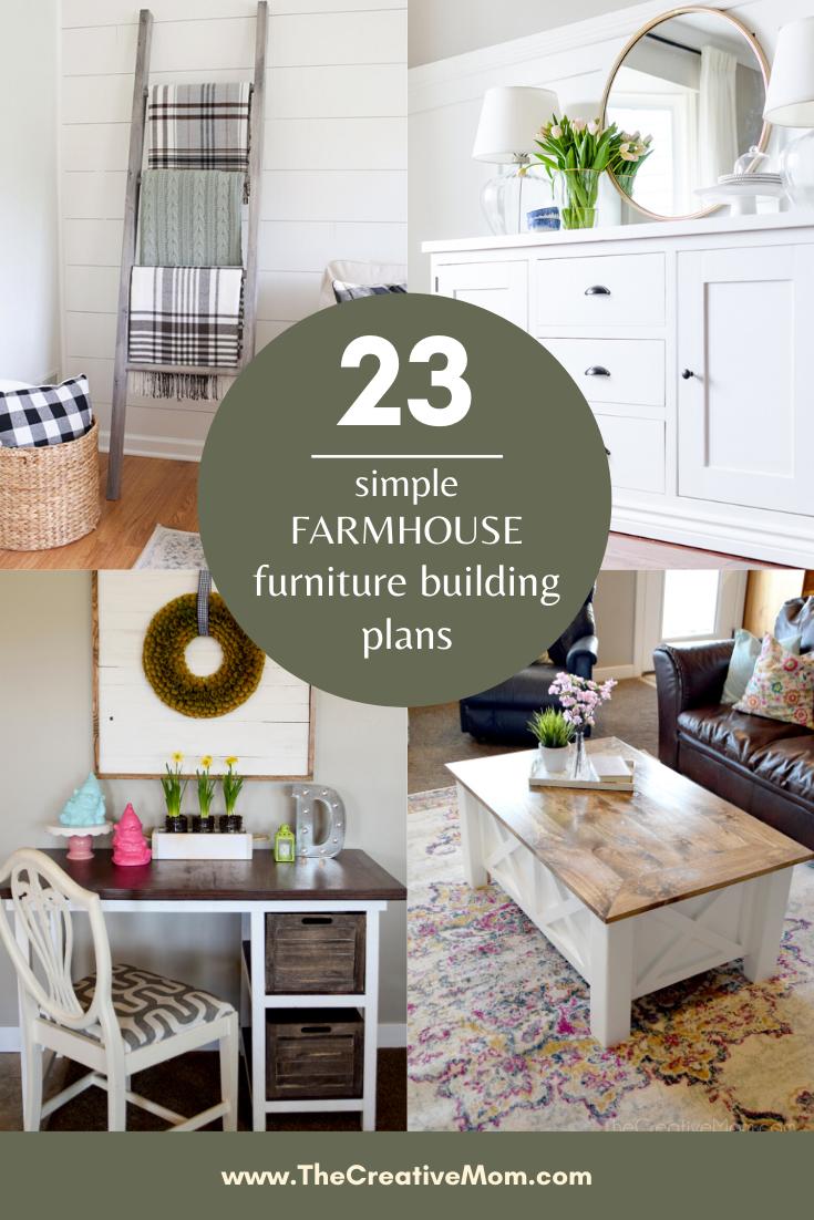 23 Simple Farmhouse Furniture Building Plans