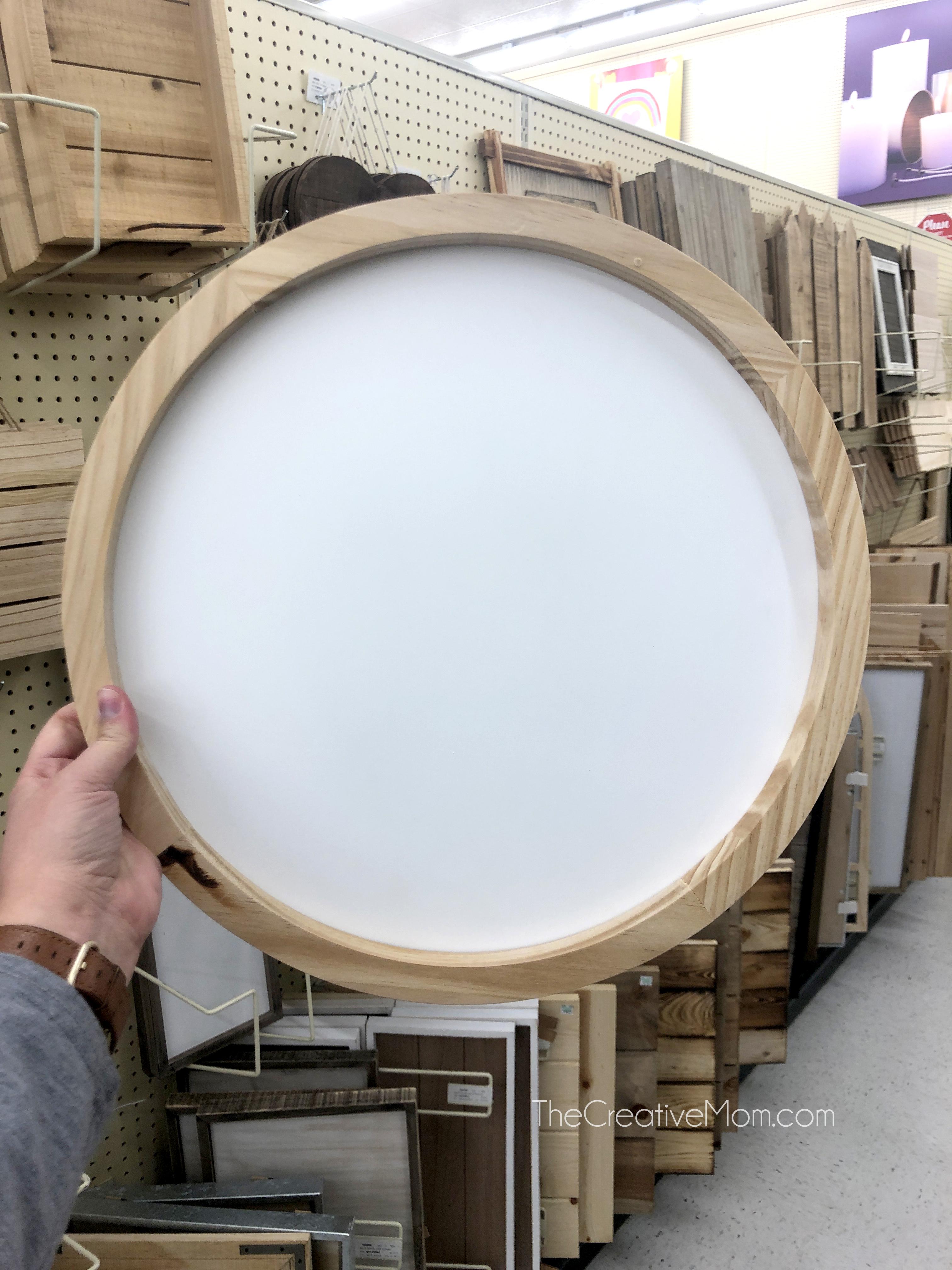 blank round sign