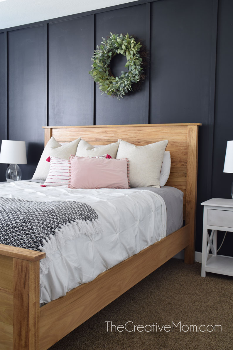Modern Farmhouse Boho Bedroom Reveal Farmhouse Bed Building Plans The Creative Mom