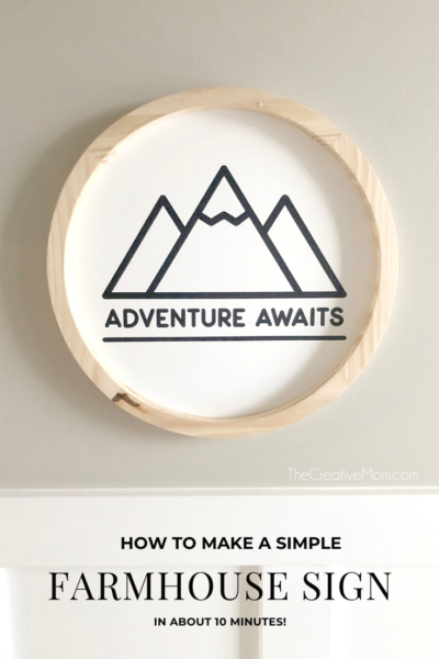 Adventure Awaits Sign (Farmhouse Style)