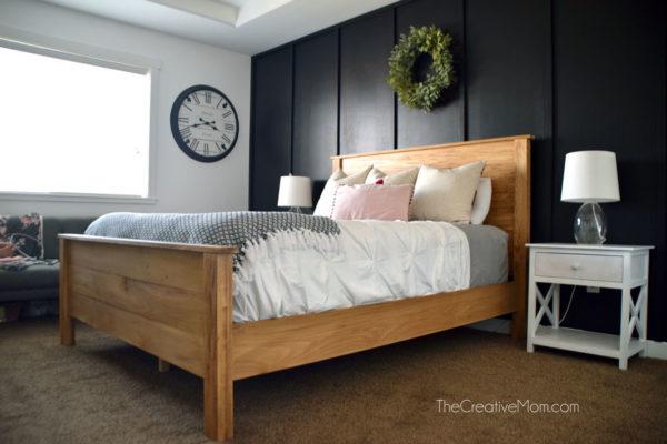 bedroom dark accent wall