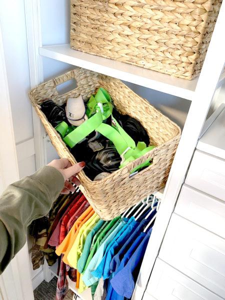 kids closet baskets