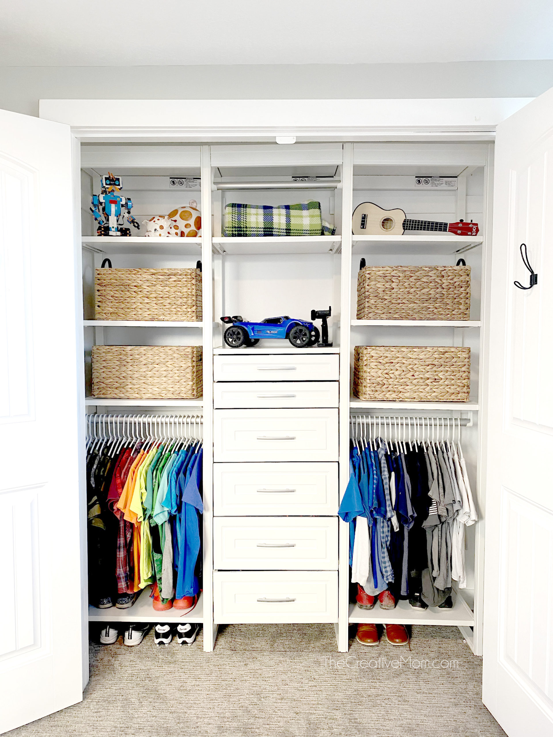 Kids Closet Organization Solution