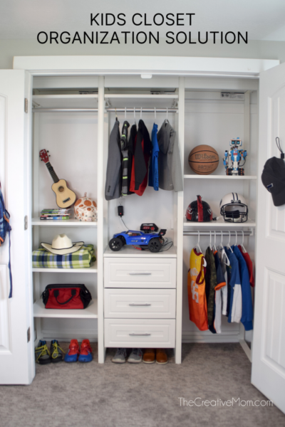 Kids Closet Organization Solution