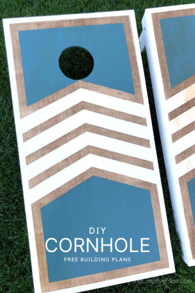 DIY Cornhole Boards- free building plans