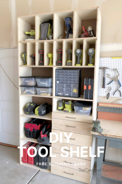 diy tool shelf