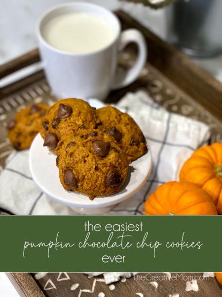 pumpkin chocolate chip cookie recipe easy