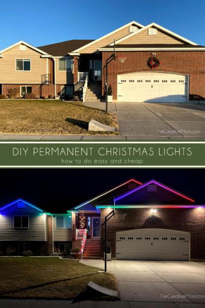DIY permanent christmas lights