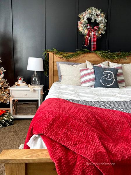 modern farmhouse christmas bedroom
