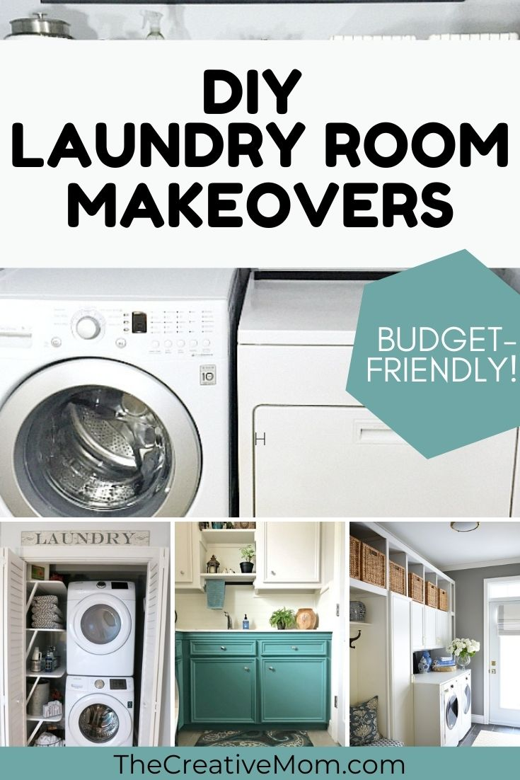 DIY laundry room makeovers that are budget-friendly collage