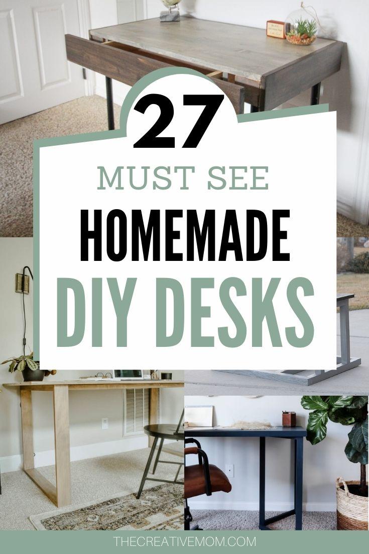 diy homemade desks feature image
