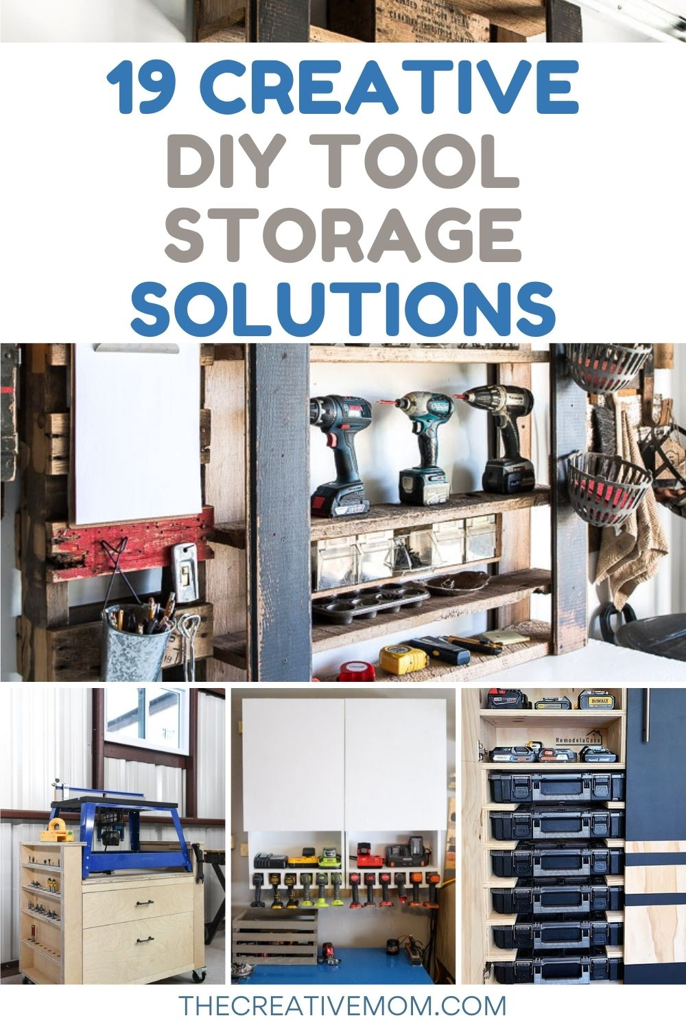 diy tool storage collage