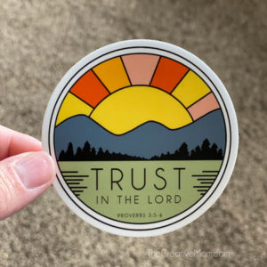 Trust in the Lord Christian Sticker