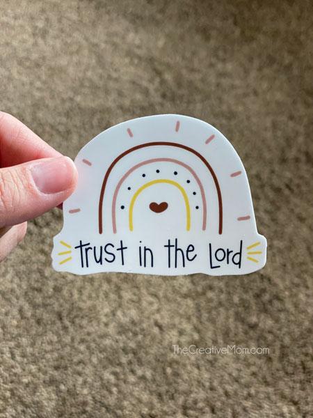 christian sticker boho