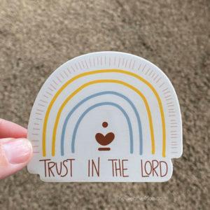 rainbow christian sticker
