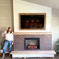 diy built in fireplace