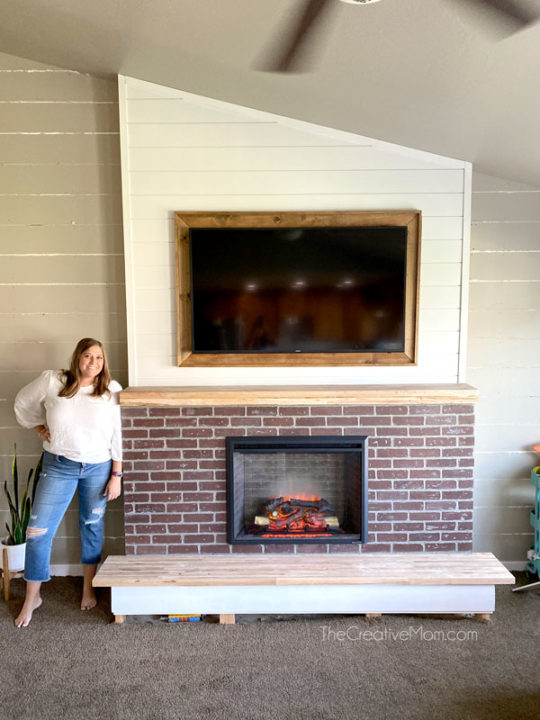 How to Build a DIY Built in Fireplace (with an electric insert